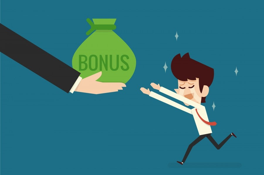 They might not take back your sign-up bonus, but you can't be sure. Image courtesy of Shutterstock.