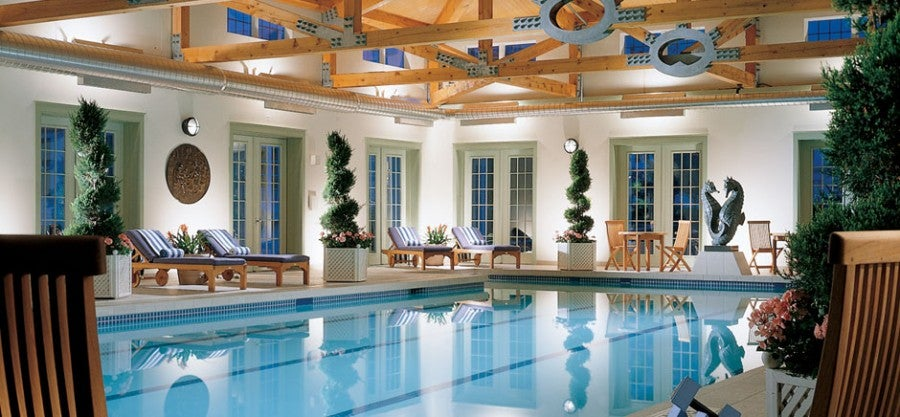 The spa pool at Equinox, an SPG Category 5  property in the ski area of Manchester Village, Vermont