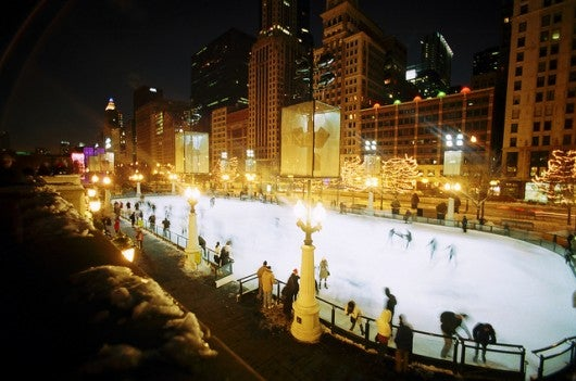 Spend New Year's in wintry Chicago and you can skate right into 2015 (Photo by
