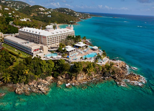 The Cliffside Frenchman S Reef Morning Star Marriott Beach Resort In St Thomas