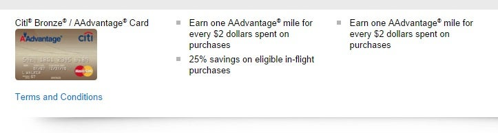 Citi Aadvantage Bronze Card Benefits Best Business Cards