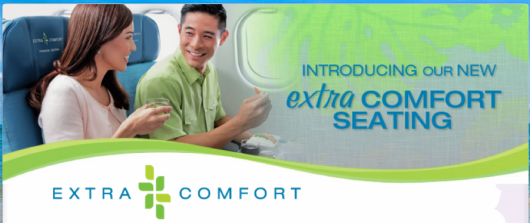 Hawaiian Extra Comfort seats are available on its A330's.