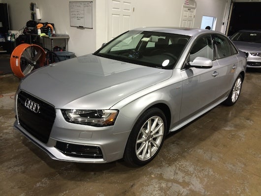 My 2015 Audi A4 at MIA's SilverCar drop-off location.