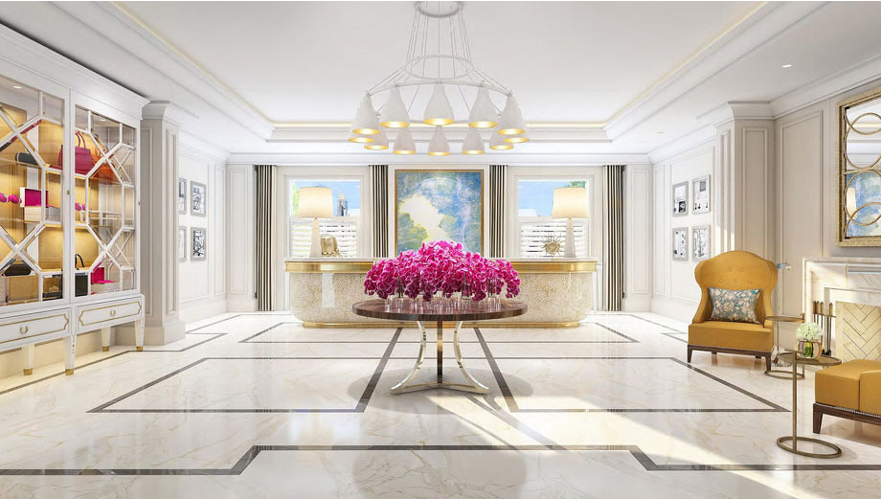 The Langham Sydney's stunning new lobby.