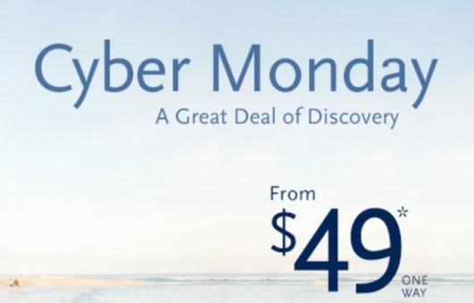 Delta airlines cyber monday deals