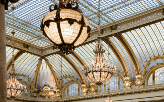 The chandeliers at San Francisco's Palace Hotel are like their own Festival of Lights.