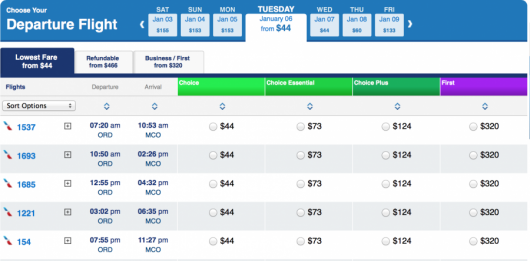 $44 American Airlines flights.