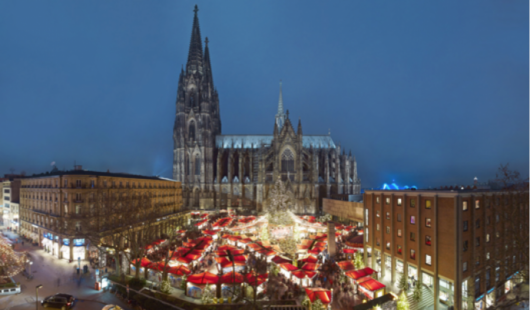 Christmas Market at Cologne Cathedral (Photo courtesy of Dieter Jacobi/KolnTourismus GmbH)