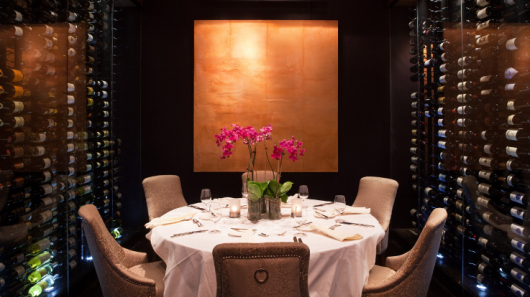 At Philly's grande dame Hyatt at the Bellevue, you could have a family dinner surrounded by wine.