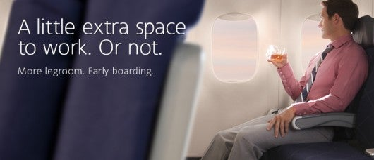 American's Main Cabin Extra seats offer more legroom.