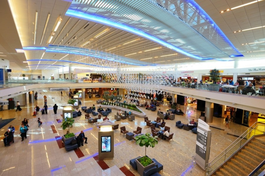 The Atlanta Hartsfield-Jackson airport. Photo courtesy of Shutterstock.