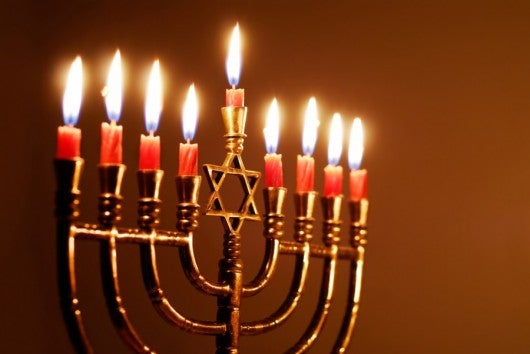 Here's a hotel for each candle on the Hanukkah menorah - even the shamas (Image courtesy of Shutterstock)