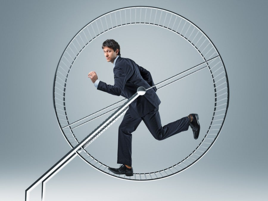 The elite status hamster wheel...but is the status always worth the chasing (and the $$)? Photo courtesy of Shutterstock.