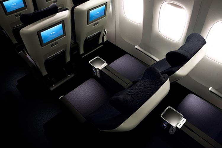 The newly refurbished World Traveller Plus seats on British Airways are not only stylish but comfortable as well.
