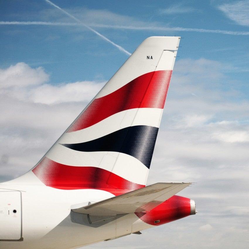 British Airways plane tail