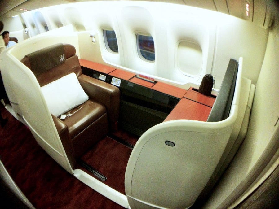 Japan airlines 777 first class review sfo tokyo haneda for First class suite airline