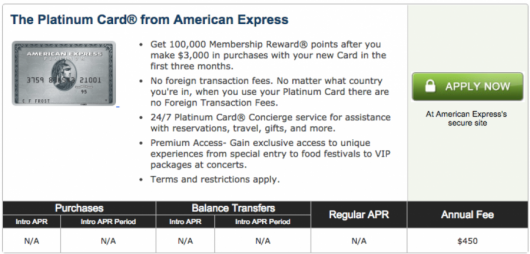 American Express Platinum 100,000 sign-up bonus through CardMatch