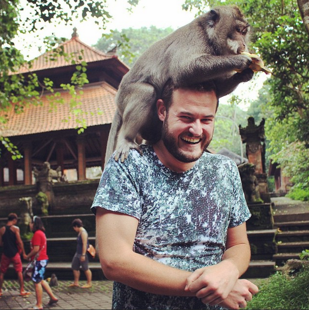At Bali's Ubud Monkey Forest: not the first time I've been mistaken for a tree.