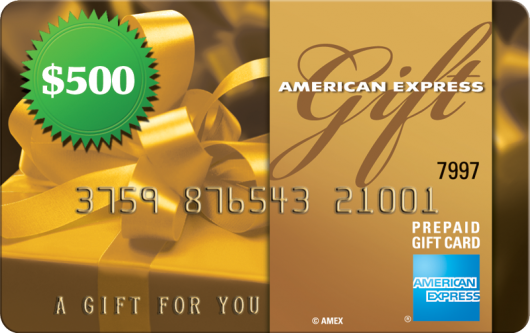 Enter to win a $500 American Express Gift Card