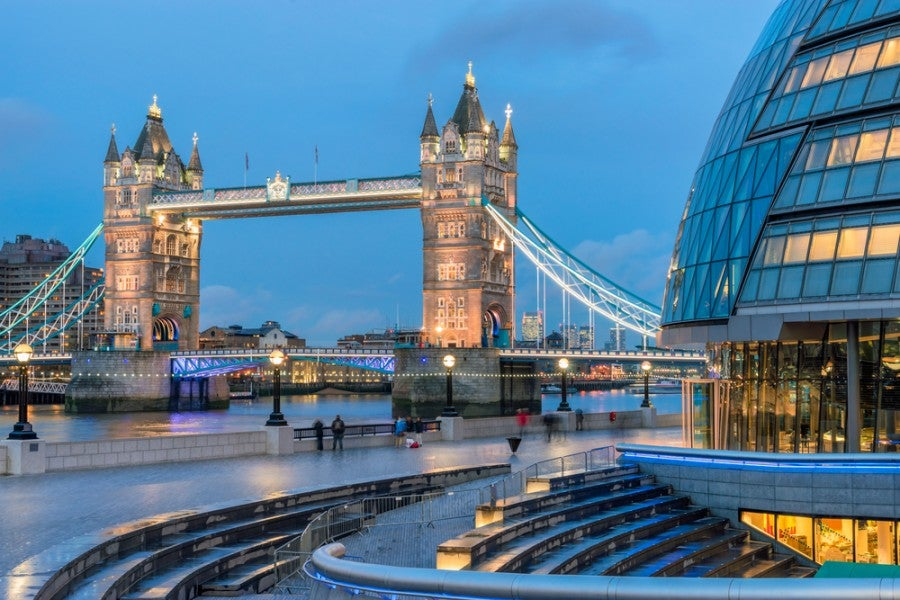 If you get the right credit card, you may just be able to fly to London using miles or points. Photo courtesy of Shutterstock.