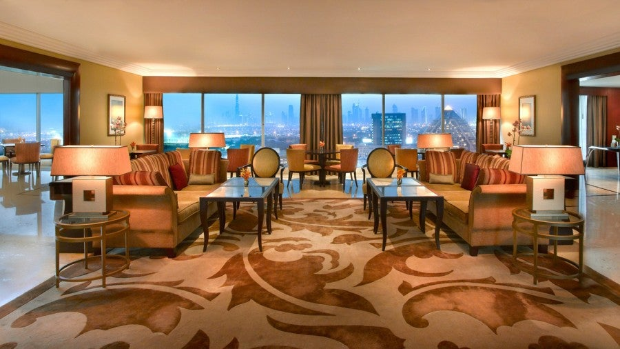 You can use points to book directly into a club room at the Grand Hyatt Dubai, giving you sweeping views of the city from the lounge.