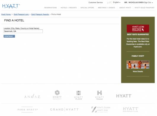 Hyatt certificate search