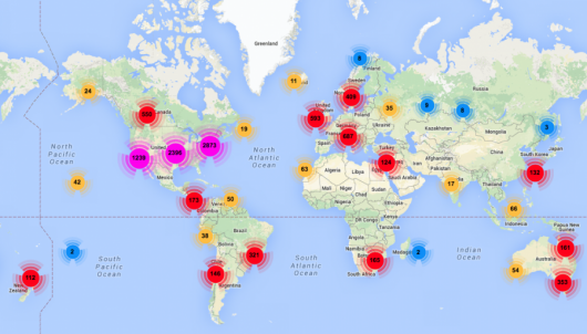 While most CrossFit locations are found in the US, there are hundreds more in various countries around the world.