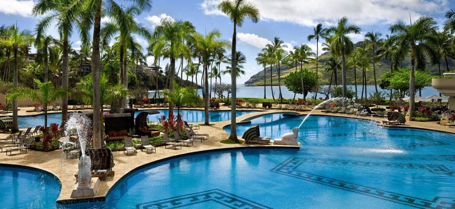 Some cards allow you to spend your way to top tier status, giving you valuable benefits at properties like the Kaua'i Marriott Resort