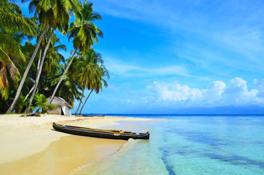 The San Blas islands in Panama are kept in pristine condition