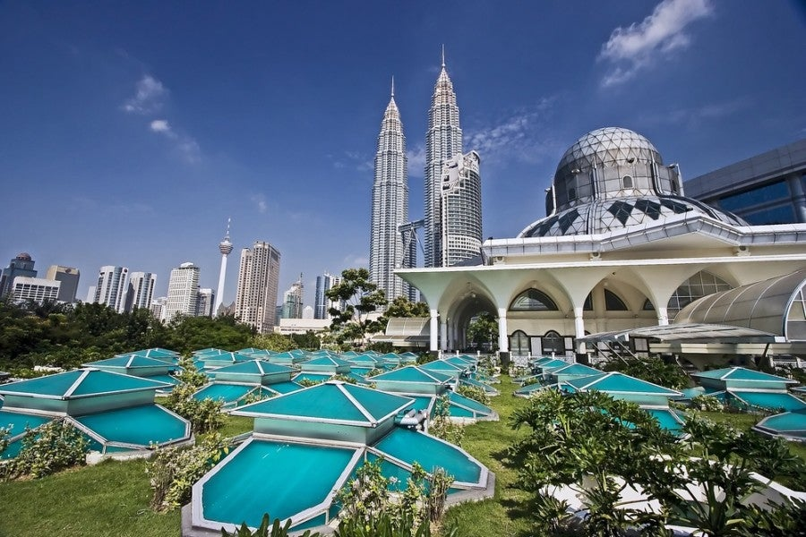 PETRONAS Twin Towers in Kuala Lumpur. Photo courtesy of Shutterstock.