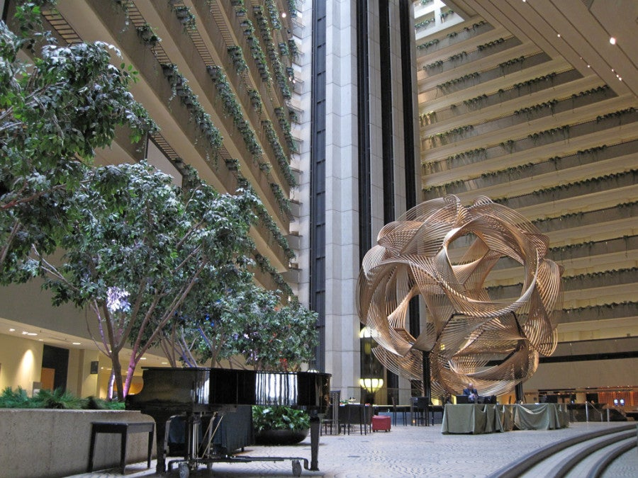 The atrium lobby at the Hyatt Regency (Photo courtesy of Robin Capper)