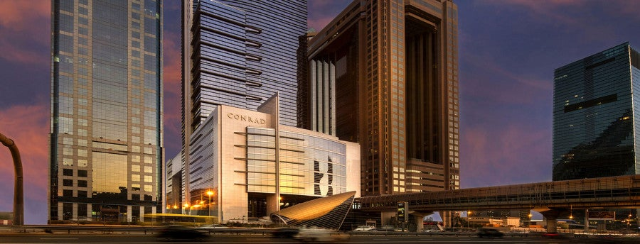 Conrad Hilton banner