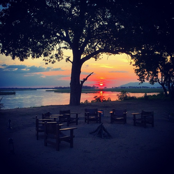 Sunset at Potato Bush Camp in the Lower Zambezi. Photo credit: Eric Rosen.