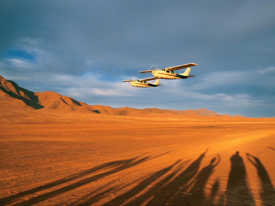 Flights are often the best way to get around Namibia. Photo credit: Wolwedans.