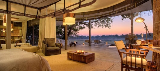 One of the luxurious safari tents at Chinzombo in South Luangwa. Photo credit: Norman Carr Safaris.
