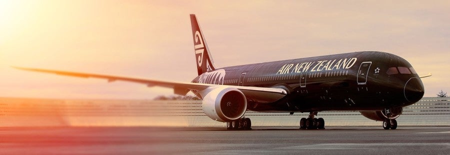 Air New Zealand plane featured