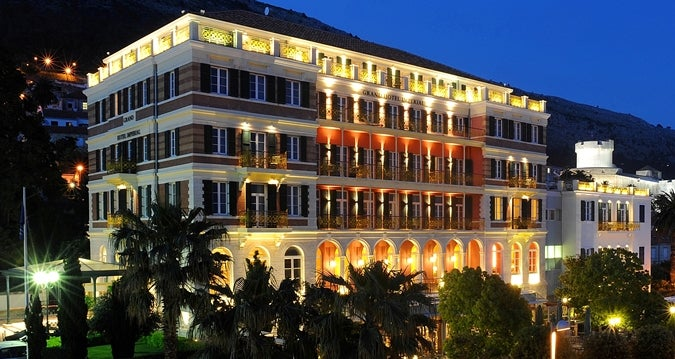 The Beautiful Exterior Of Hilton Imperial Dubrovnik