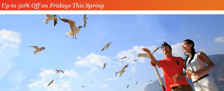 50% Off participating IHG China properties bookable Fridays