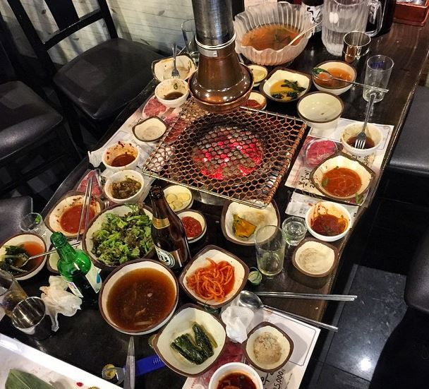 An amazing feast of Korean Barbeque