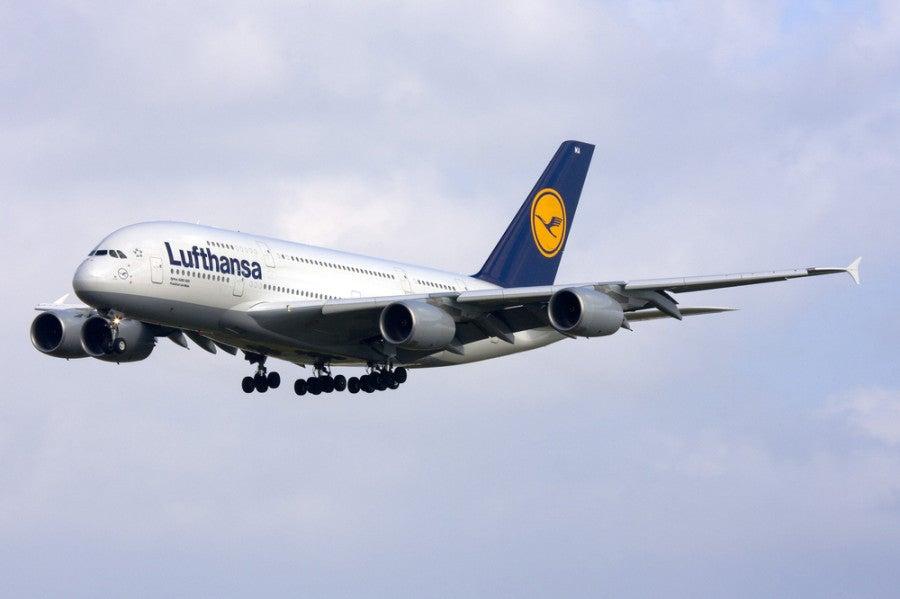 Lufthansa plane A380 shutterstock 227424472