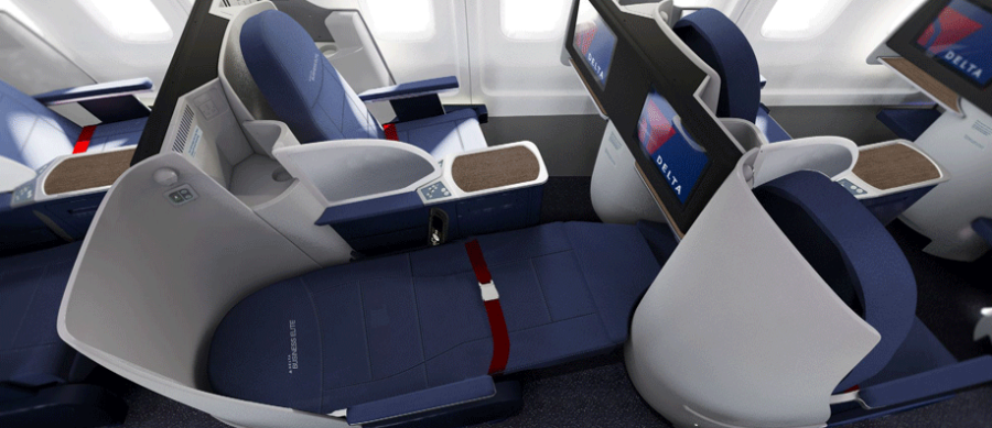 Delta has updated most of its international 757s, but you may still find an old recliner at the last minute!