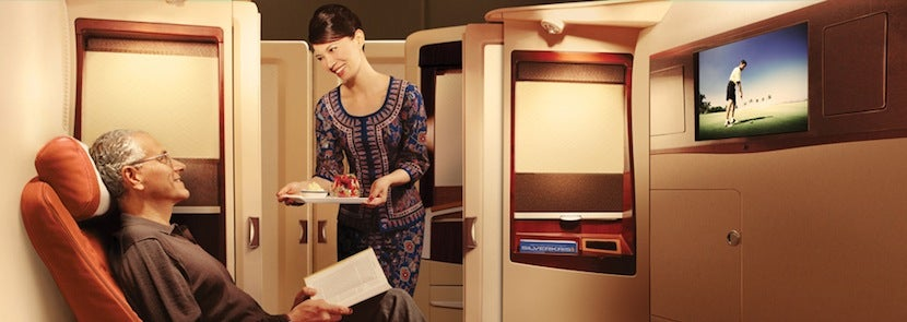 """First class passengers can """"book the cook."""" Photo courtesy of Singapore Airlines."""