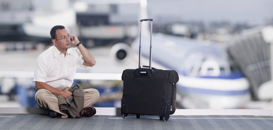 Staying connected at the airport is getting easier and easier. Image courtesy of Shutterstock.