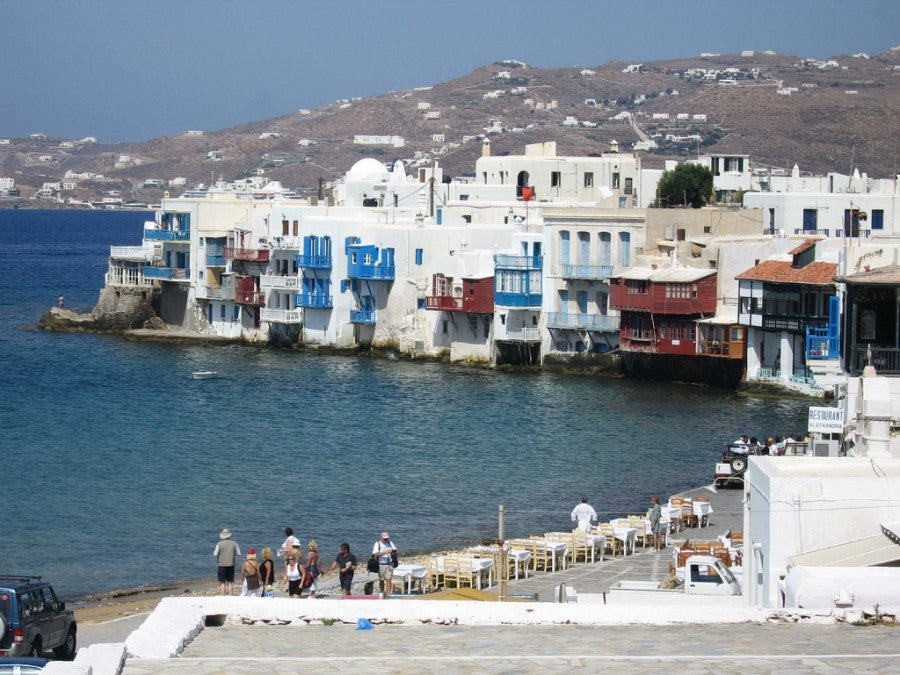 The old town of Mykonos. Photo by Melanie Wynne.