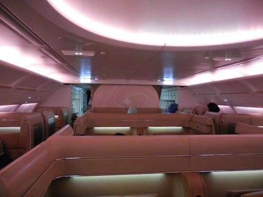 Etihad's A340 Diamond First Class cabin.