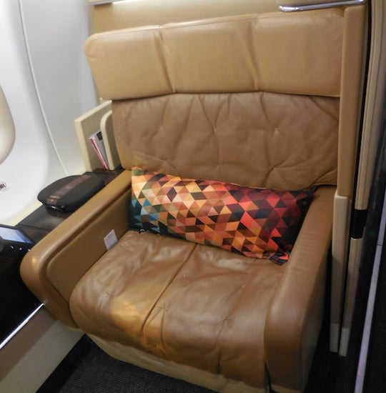 Etihad's seat is definitely the most comfortable I have sat in.