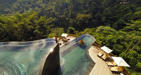 The jungle setting for the Hanging Gardens pool in Bali.