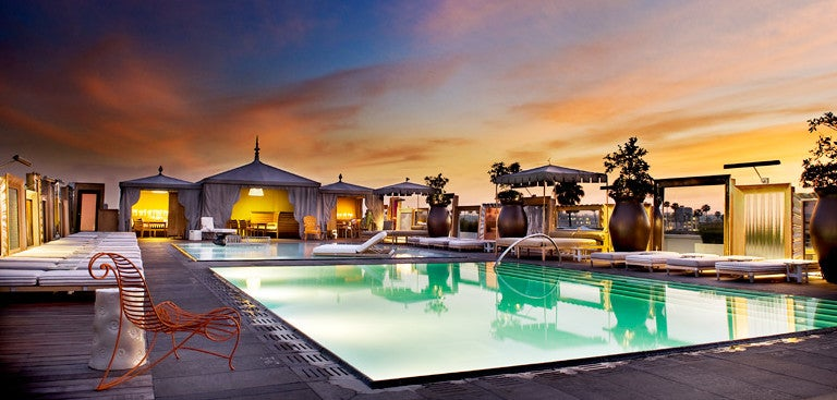 The SLS Beverly Hills has a great pool area