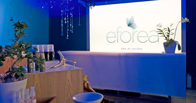 The Hilton Grand Vacations Suites on Las Vegas Blvd includes the on-site eforea spa.