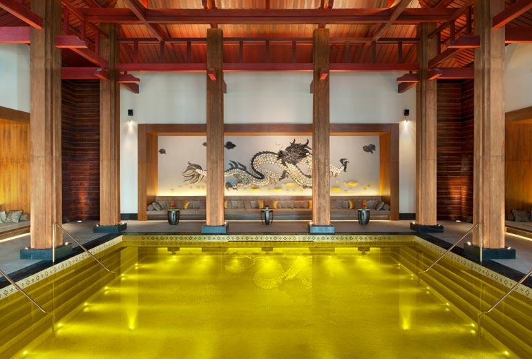 The Golden Energy Pool at the St Regis Lhasa